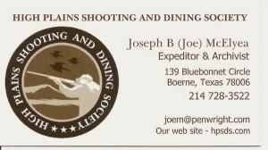 Joseph B McElyea Bus. Card 2014